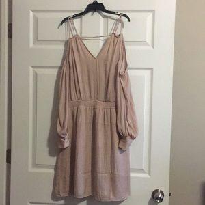 Pale pink mid length dress